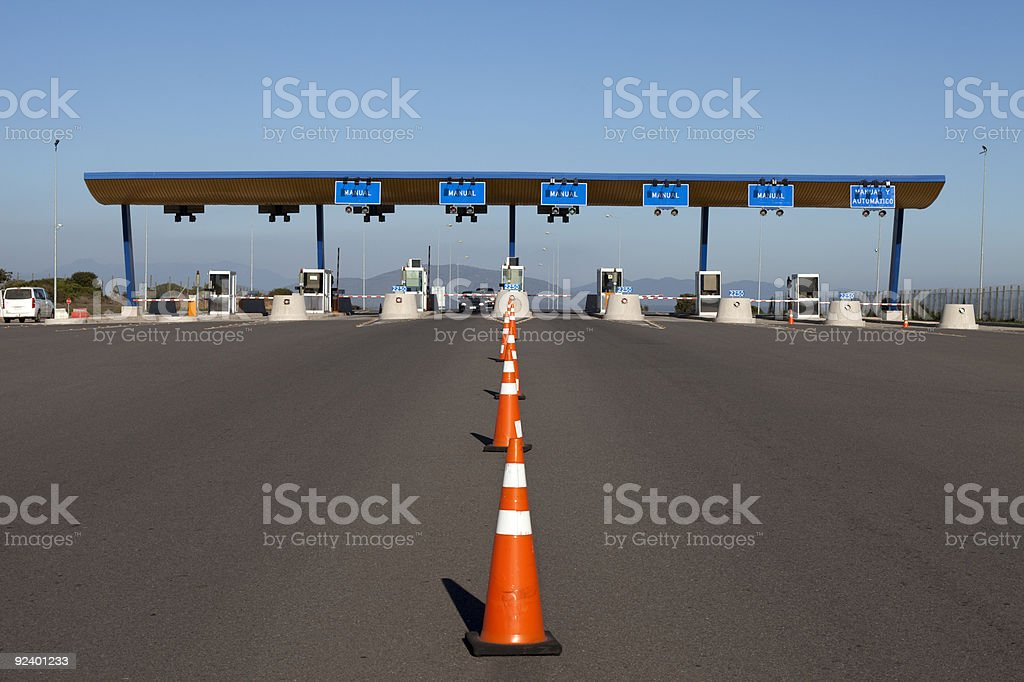 Toll Booth checkpoint stock photo