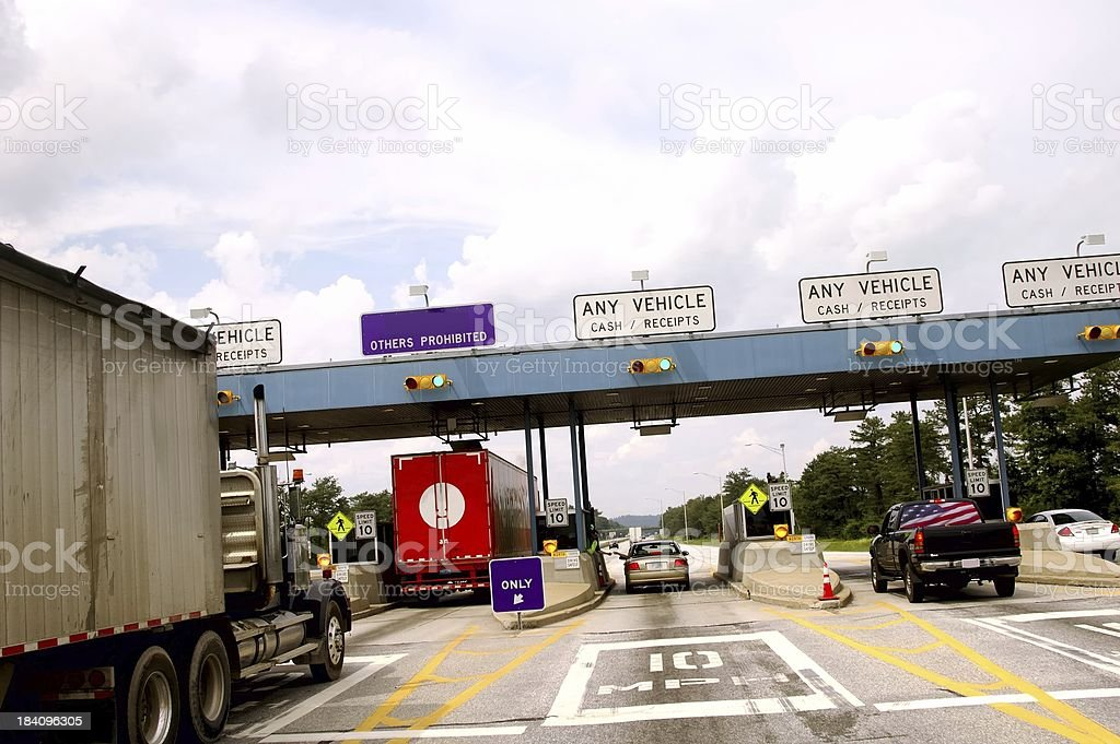 Toll Booth stock photo
