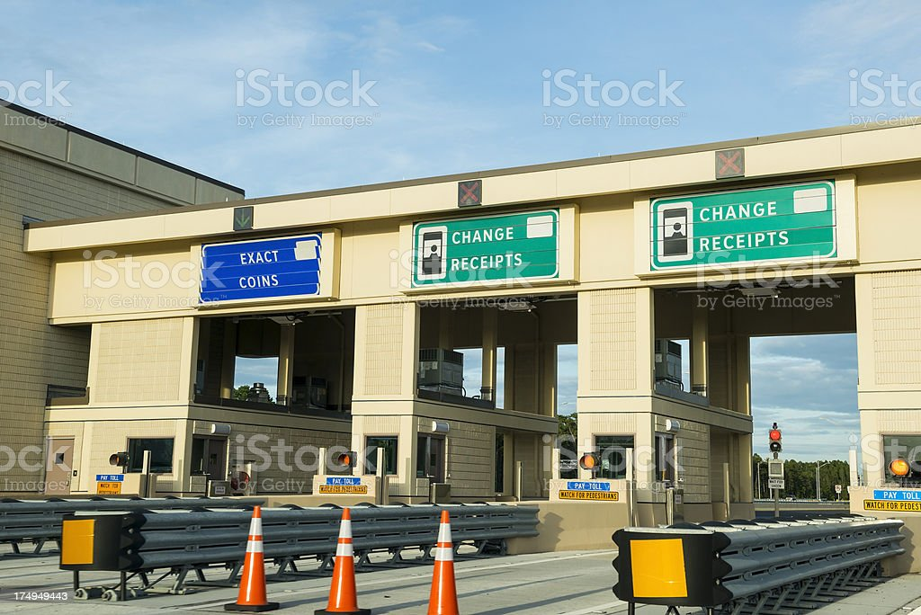 Toll both on highway in central Florida stock photo
