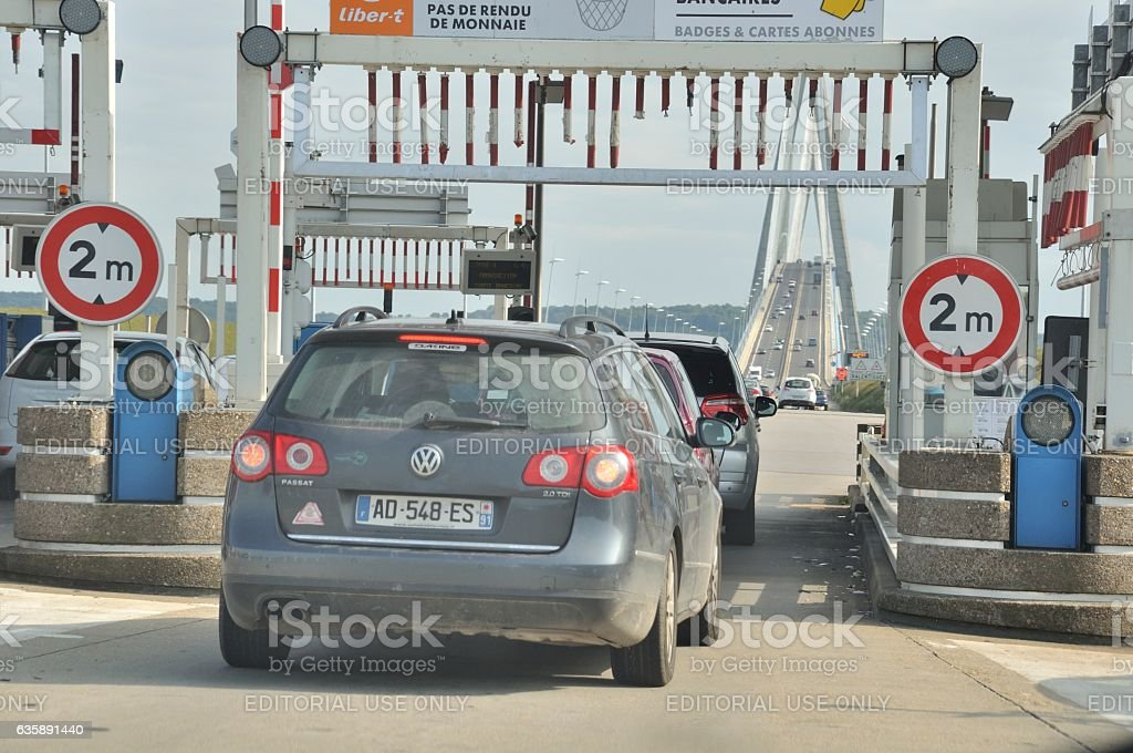 Toll gate stock photo