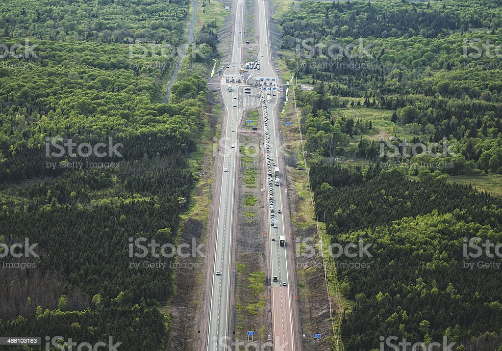 Toll Highway stock photo