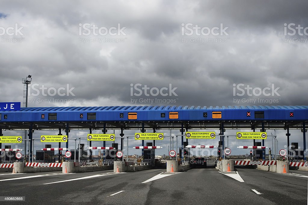 Toll road stock photo