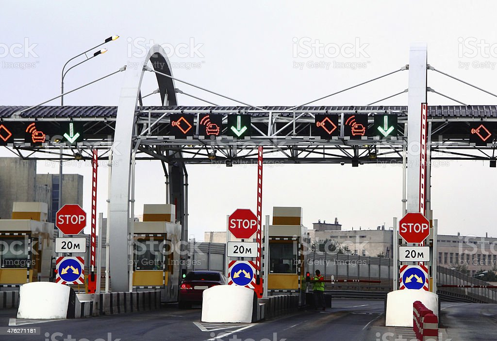 toll road royalty-free stock photo