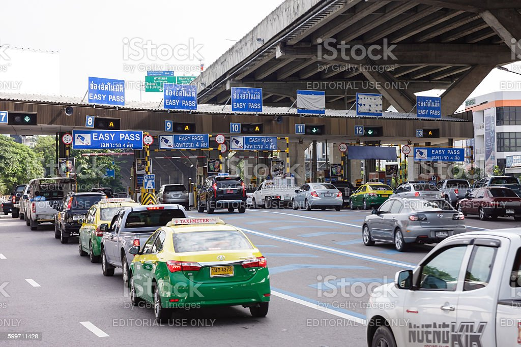 Toll station for expressway stock photo