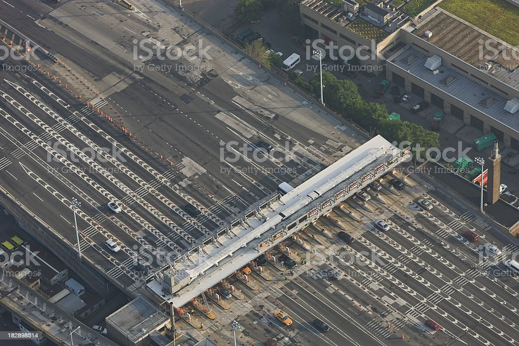Tollgate from above stock photo