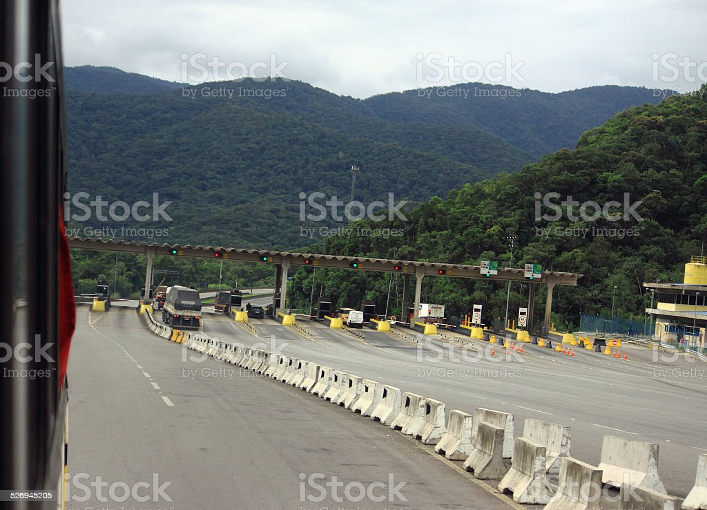 tollgate on the road between Curitiba and Sao Paolo stock photo