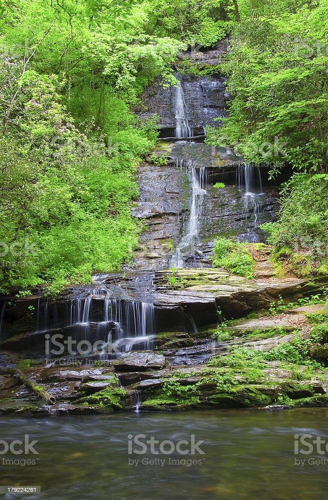 Tom Branch Falls in North Carolina royalty-free stock photo