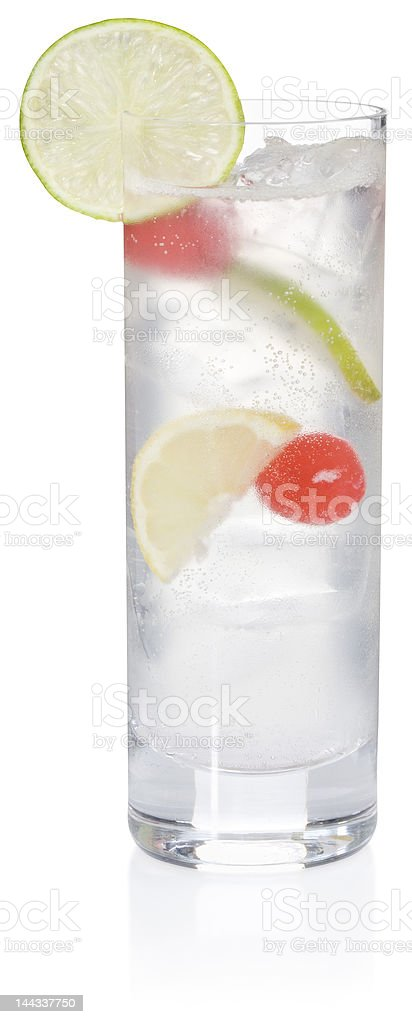 Tom Collins Cocktail (clipping path) stock photo