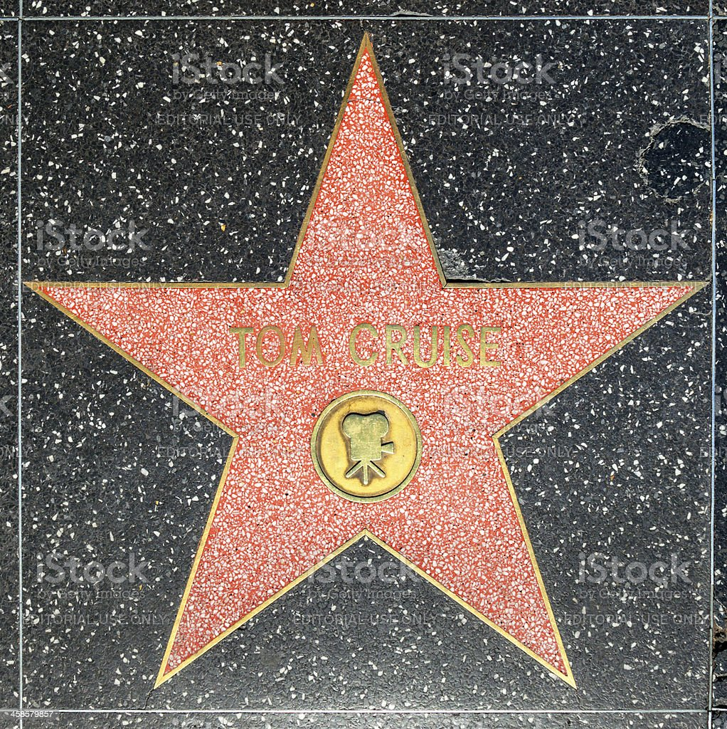 Tom Cruises star on Hollywood Walk of Fame royalty-free stock photo