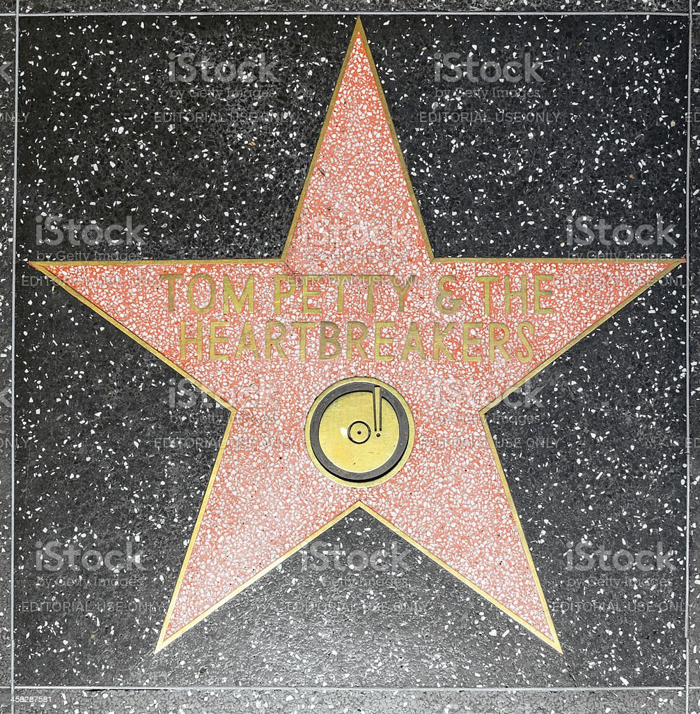 Tom Petty and the Heartbreakers star stock photo