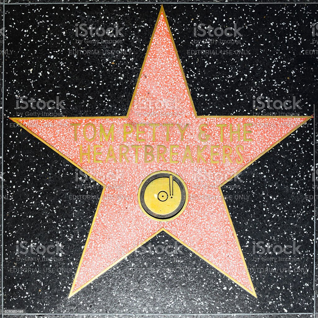 Tom Petty & the Heartbreakers star on Walk of Fame stock photo