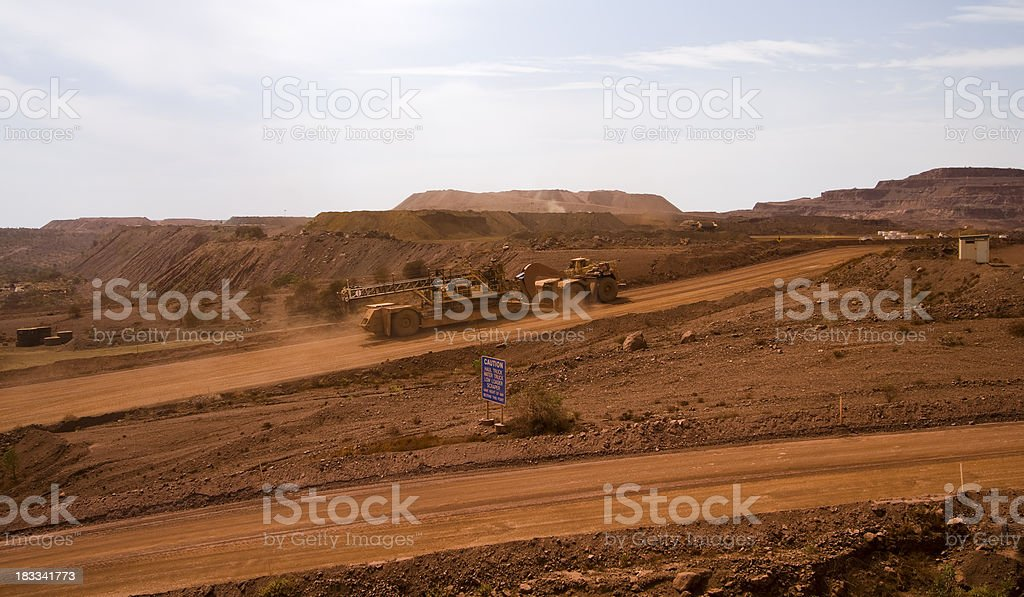 Tom Price Iron Ore Mine stock photo