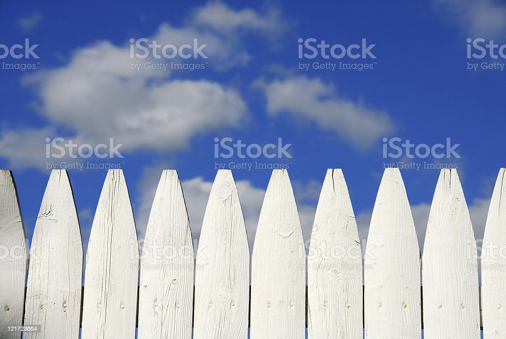 Tom Sawyers Fence royalty-free stock photo