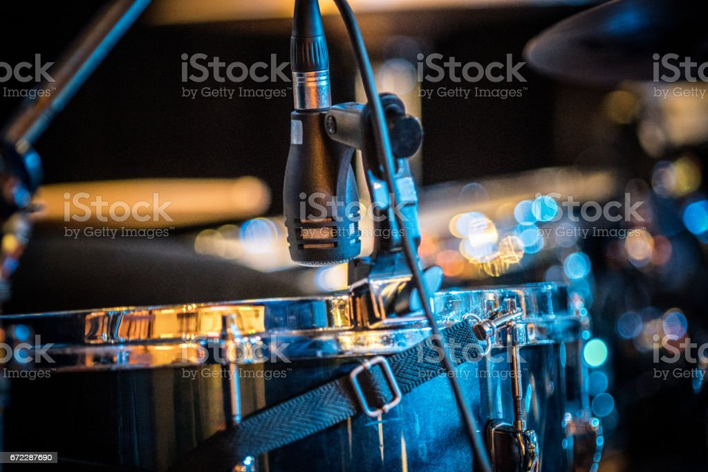 Tom tom and microphone stock photo