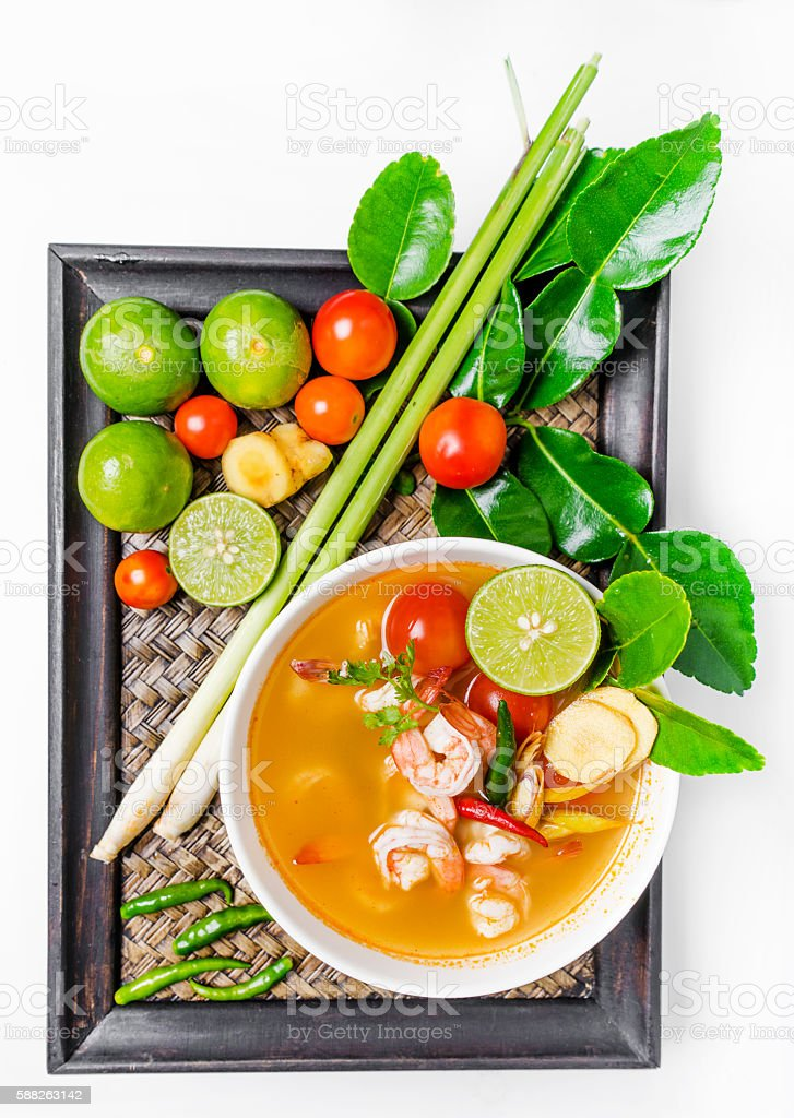 Tom yam kong stock photo