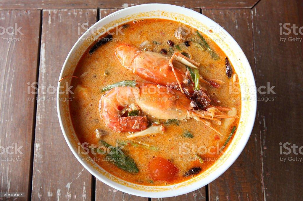 Tom Yam Kung (Thai cuisine) stock photo