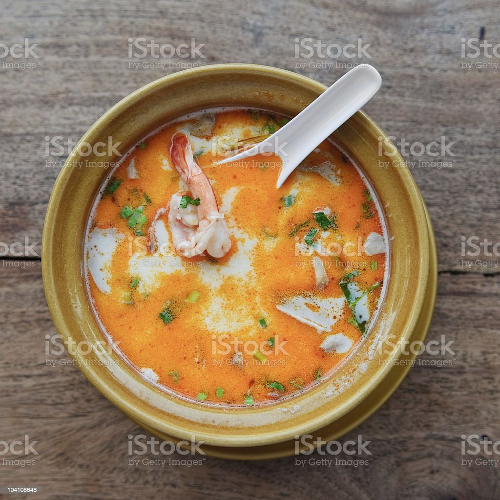 Tom yam kung soup royalty-free stock photo