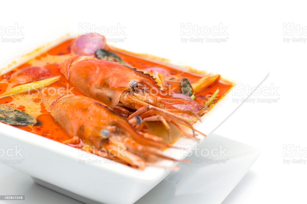 Tom Yam Soup Of Thailand Culture stock photo