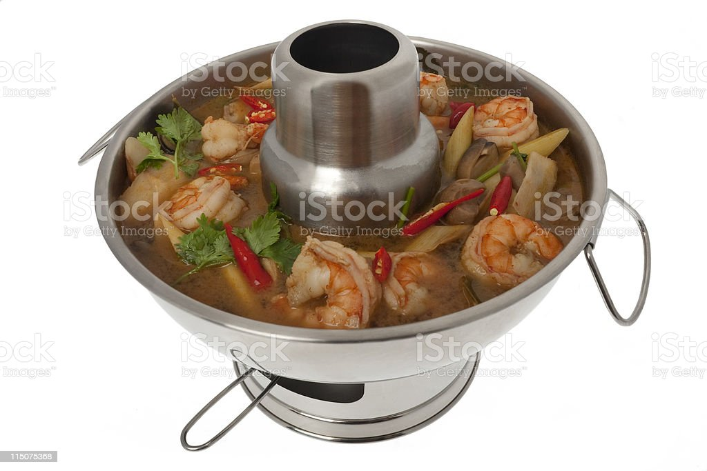 Tom Yum Goong soup royalty-free stock photo