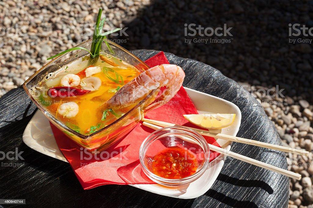 Tom Yum Goong Soup stock photo