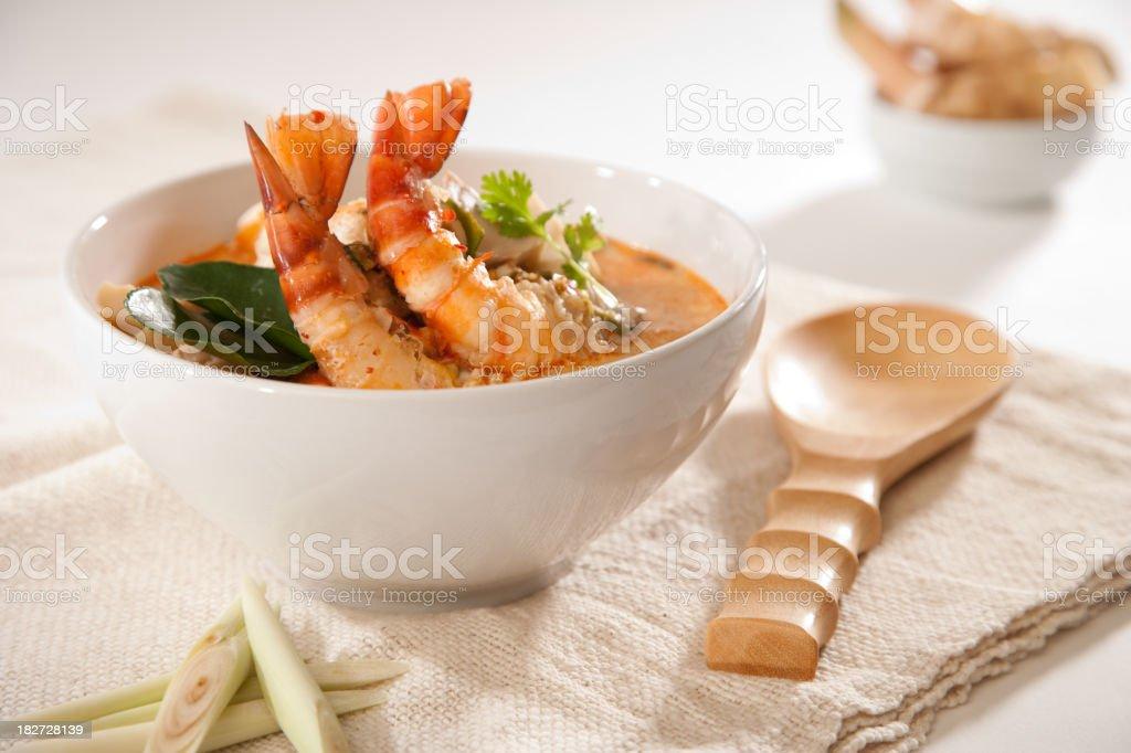 Tom Yum Kung Soup stock photo