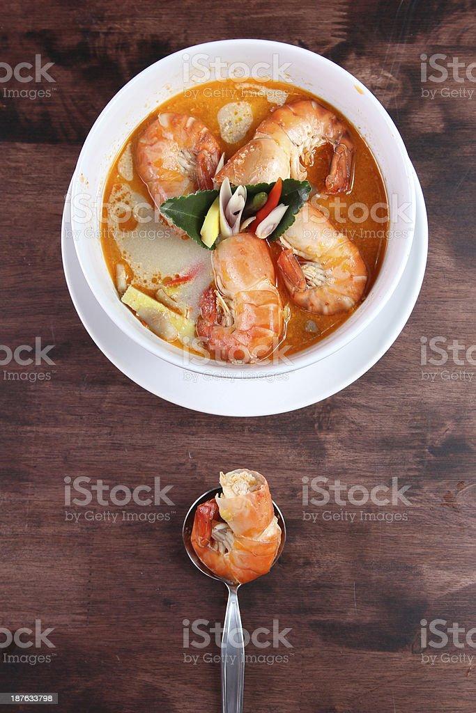 Tom Yum Kung Thai popular menu royalty-free stock photo