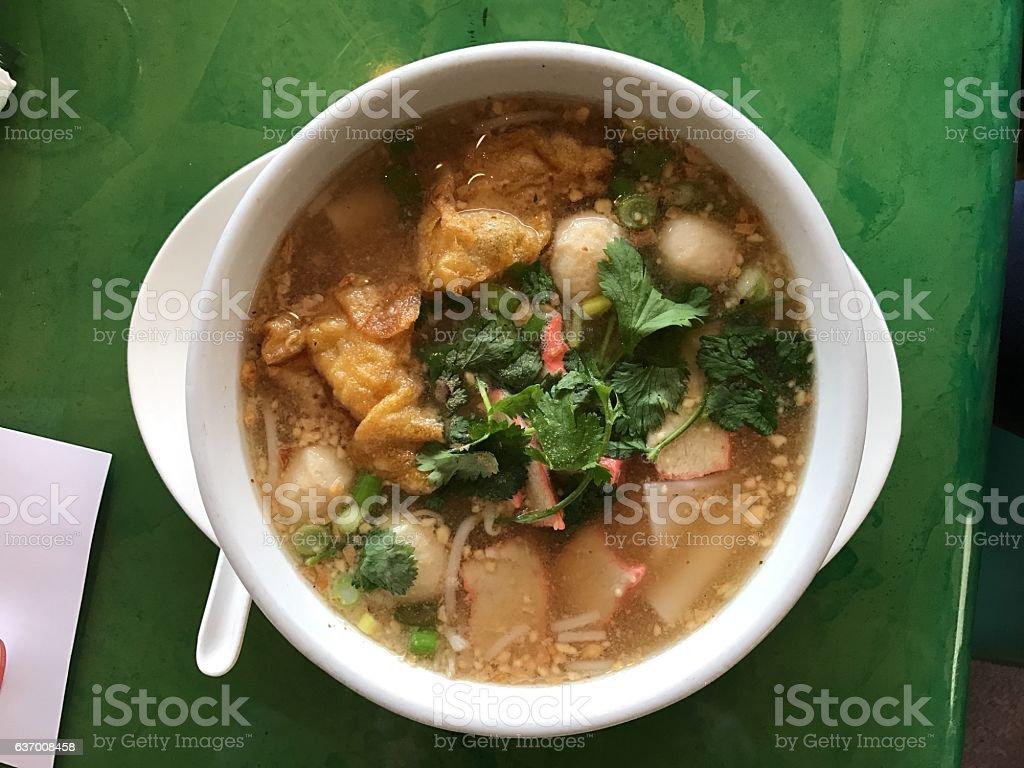 Tom Yum Noodles Soup stock photo
