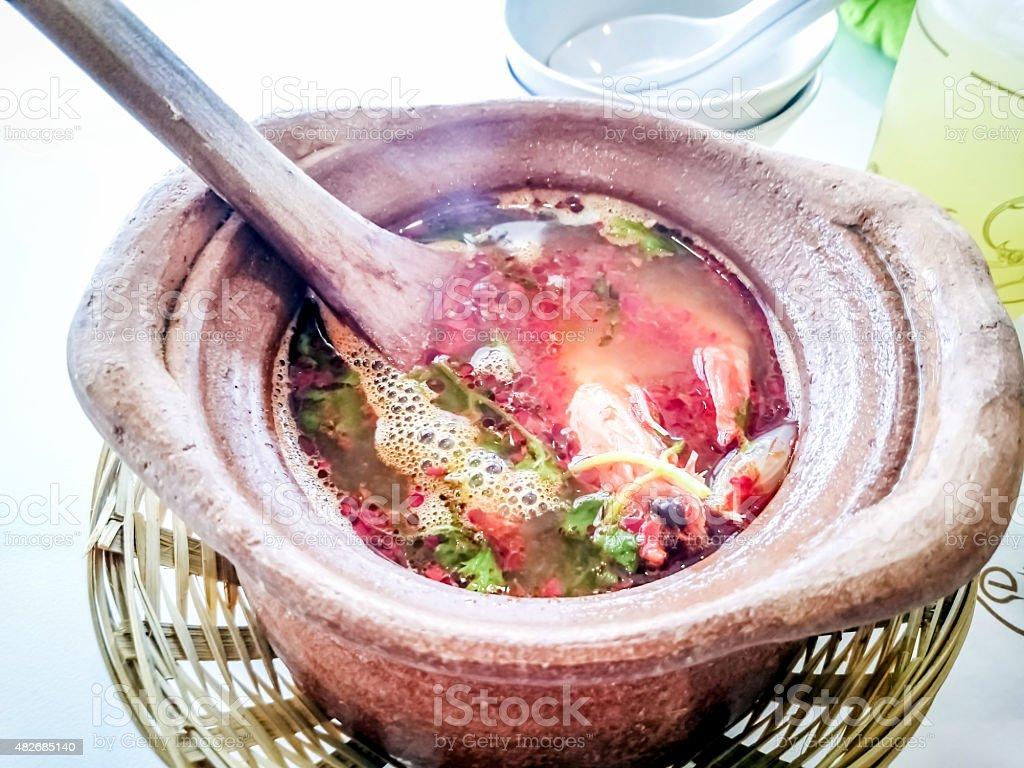 Tom Yum Seafood Soup stock photo