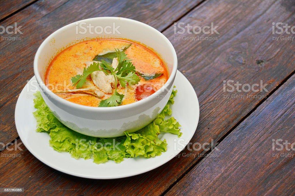 Tom Yum Soup - Thai Food stock photo