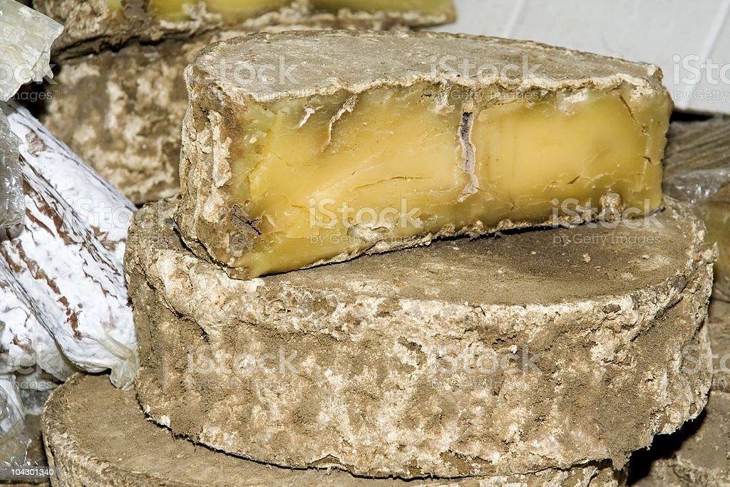 Toma cheese stock photo