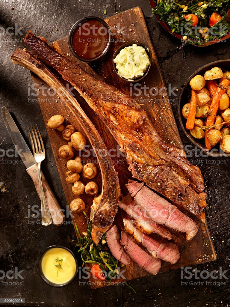 Tomahawk, The Ultimate Steak stock photo