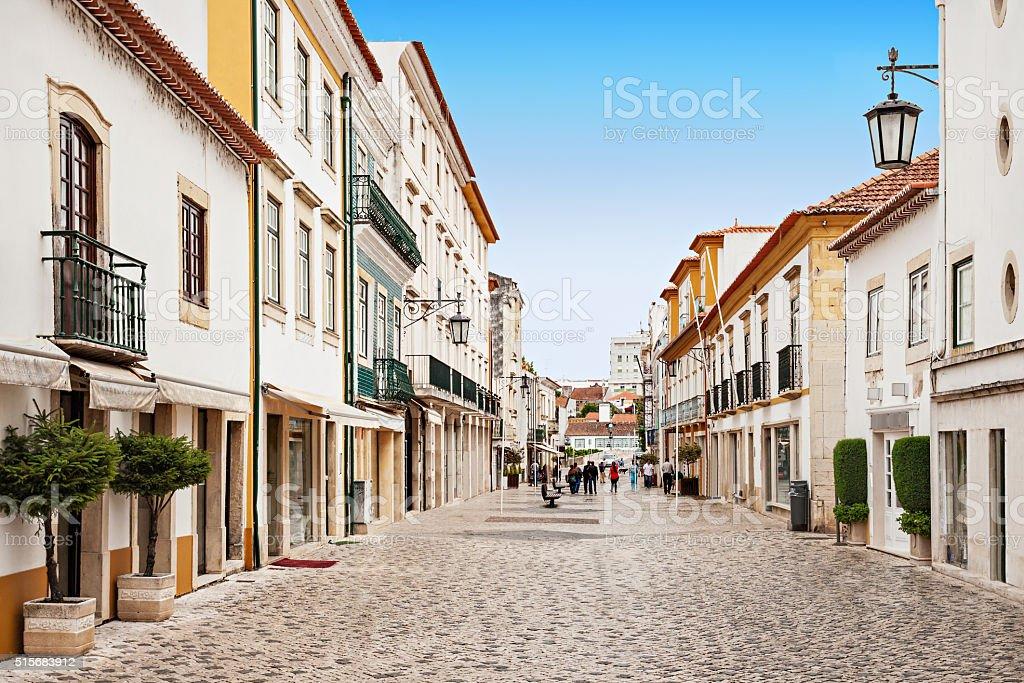 Tomar city center stock photo