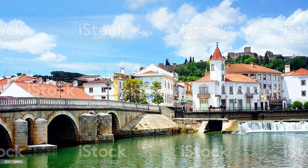 Tomar city, Portugal stock photo