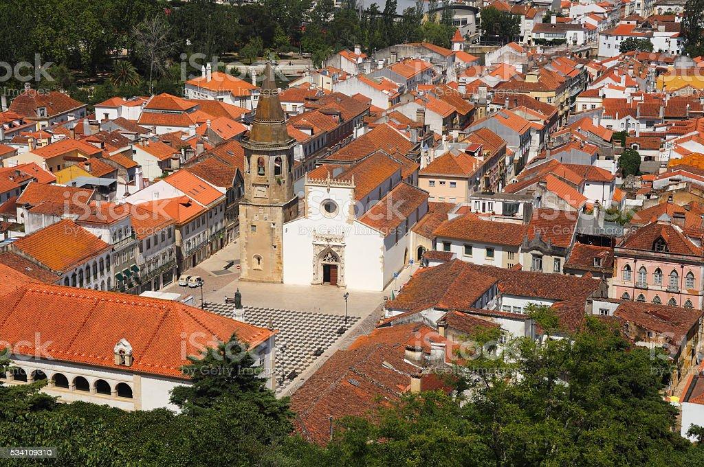 Tomar historic centre, Santarem district, Ribatejo, Portugal. stock photo