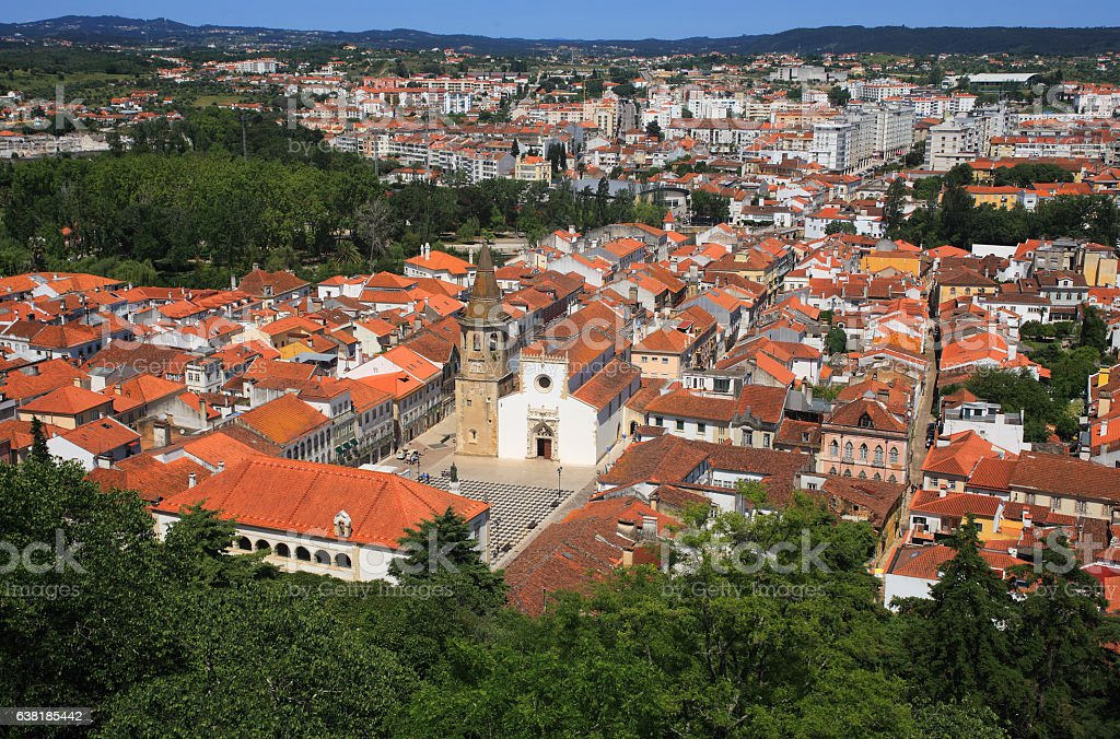 Tomar historic centre, Santarem district, Ribatejo, Portugal. stock photo