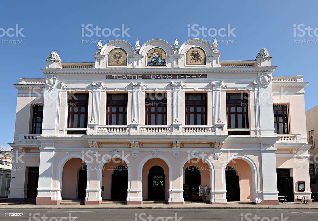 Tomas Terry Theater, Cienfuegos, Cuba stock photo