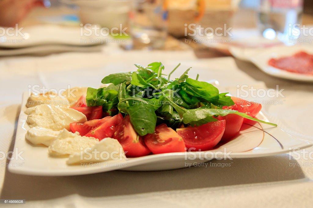 Tomaten- Mozzarella Salat stock photo