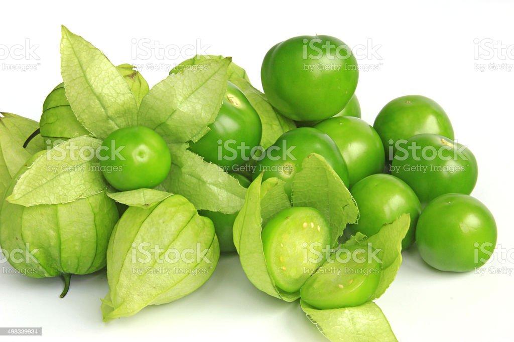 Tomatillo or Mexican husk tomato stock photo