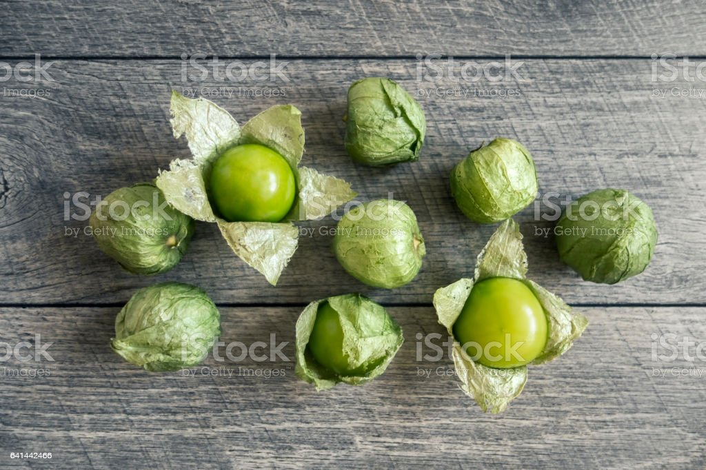 tomatillos stock photo