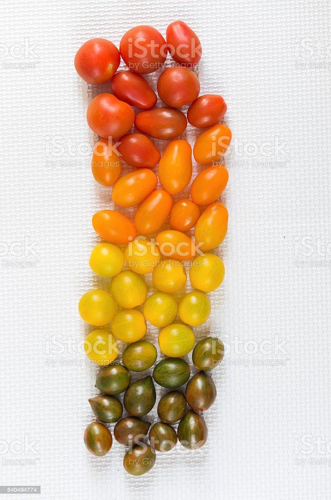 Tomatitos cherry stock photo