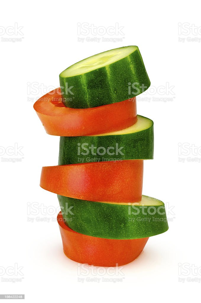 Tomato an cocumber incident royalty-free stock photo