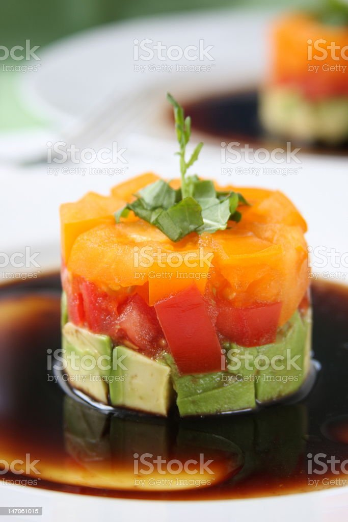 Tomato and Avocado Appetizer royalty-free stock photo