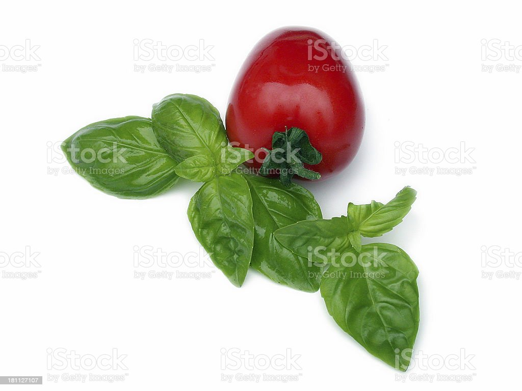 tomato and basil royalty-free stock photo