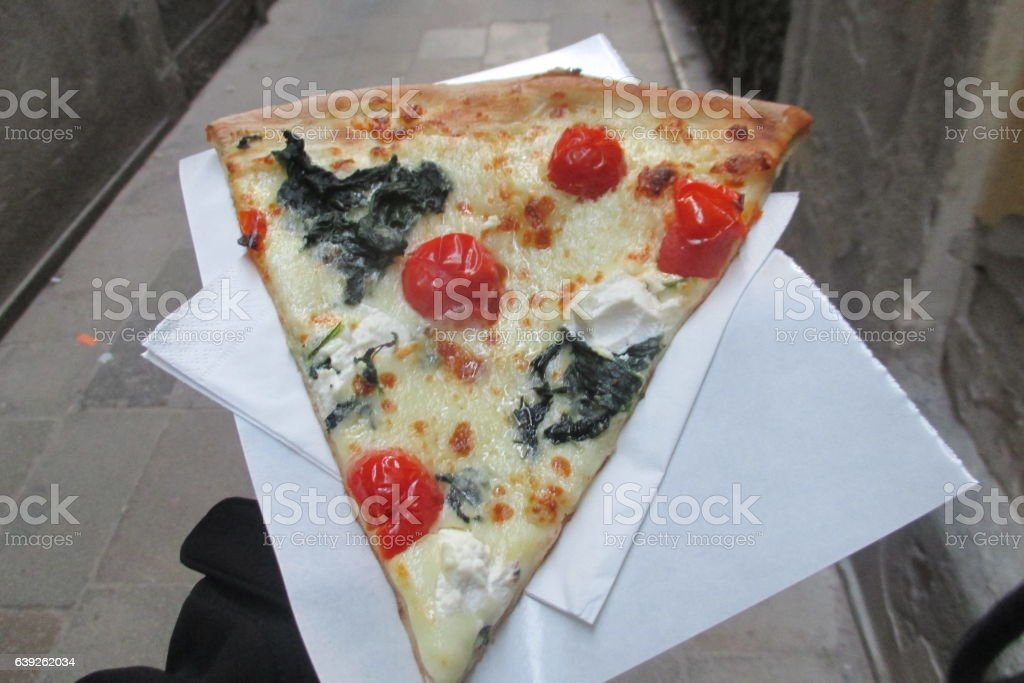 Tomato  and Cream Cheese Pizza stock photo