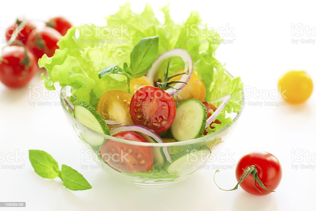 tomato and cucumber salad royalty-free stock photo