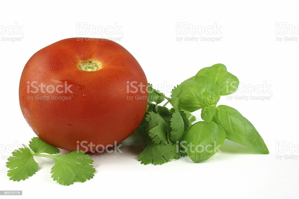 Tomato and Herbs royalty-free stock photo
