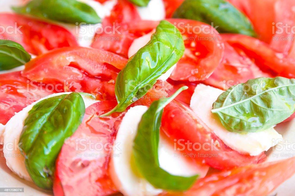 Tomato and mozarella salad stock photo