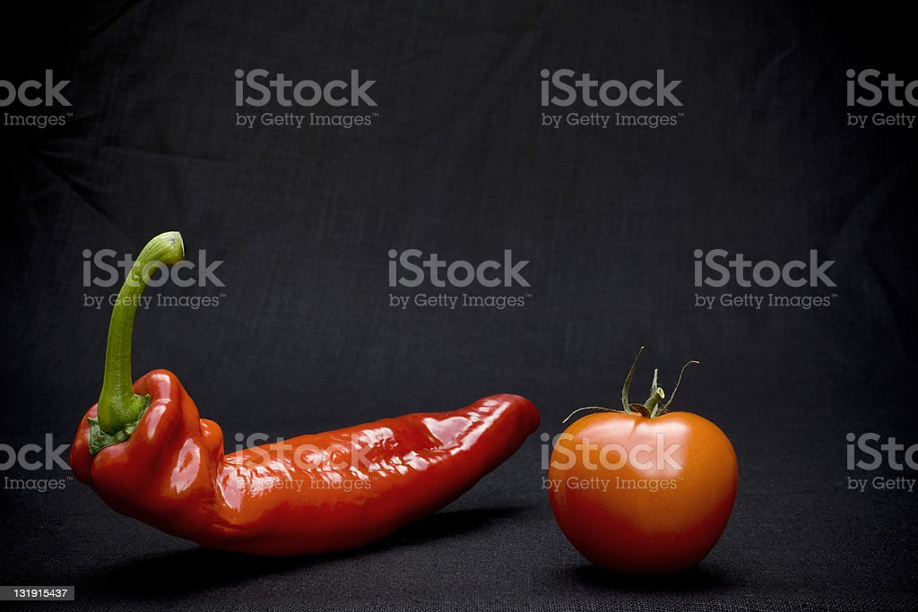 Tomato and Pepper royalty-free stock photo