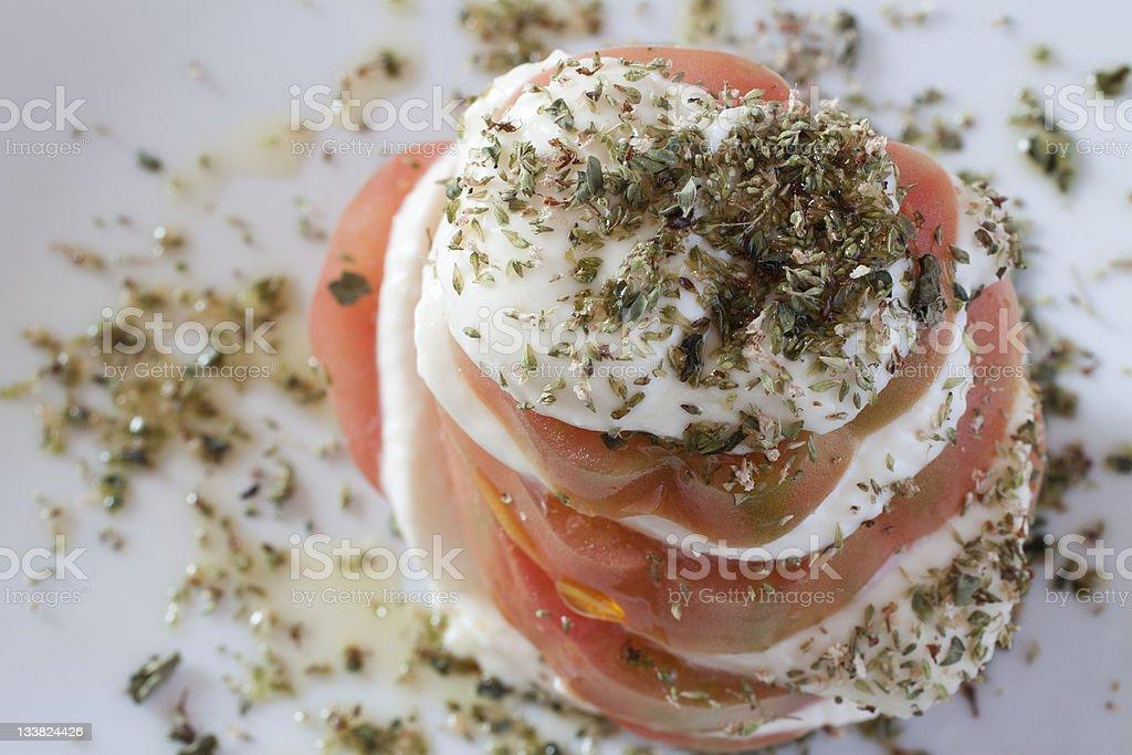 Tomato and Stracchino sandwich royalty-free stock photo