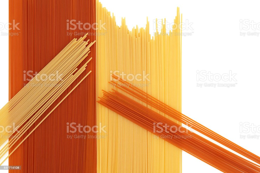 Tomato and Wheat Pasta Abstract stock photo